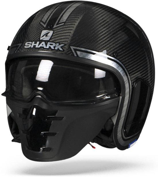 SHARK S-DRAK VINTA CARBON CHROME ZILVER DUS S