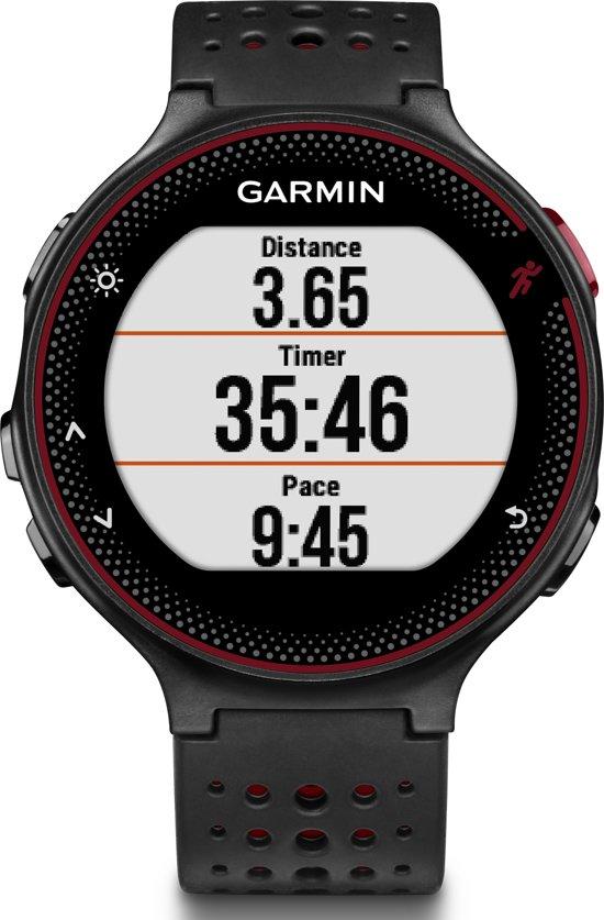 Garmin Forerunner 235 - GPS hardloophorloge met polshartslagmeter - Ø 45 mm - zwart/masala rood