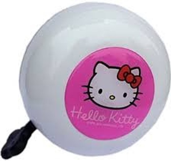 Hello Kitty Ding Dong fietsbel 80mm Wit