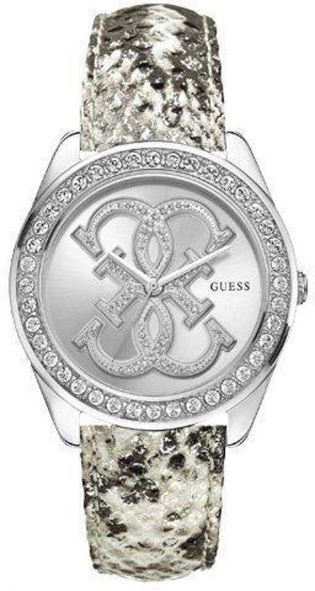 Guess W0023L3 Ladies Trend - Horloge - 40 mm - Leer - Zilverkleurig