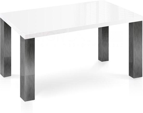 Witte Salontafel Met Rvs Poten.Bol Com 24designs Tafel High Gloss L140 X B85 X H76 5 Cm Wit