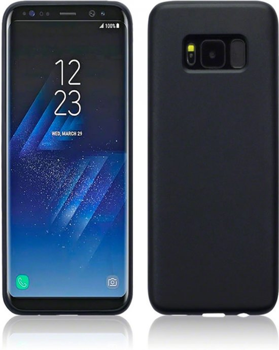 Premium Hoesje voor Samsung Galaxy S8, Soft Siliconen Case met een luxe matte utstraling, zwart , merk i12Cover in Zuidland