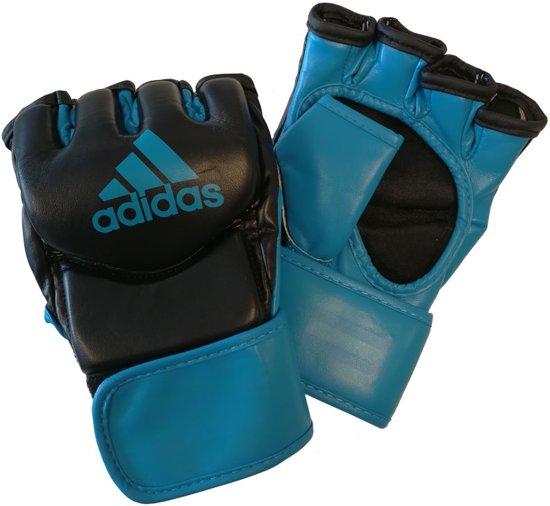 Adidas Grappling Training Handschoenen Zwart/Blauw-M