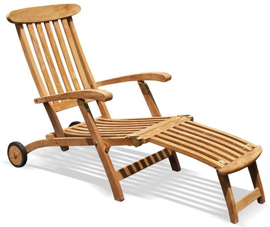 teak deckchair verrijdbaar. Black Bedroom Furniture Sets. Home Design Ideas