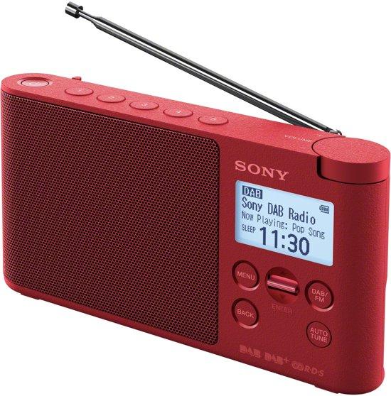 Sony XDR-S41D - DAB+ Radio - Rood