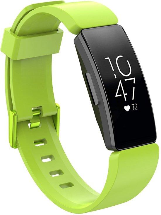 KELERINO. Siliconen bandje voor Fitbit Inspire (HR) - Groen - Small