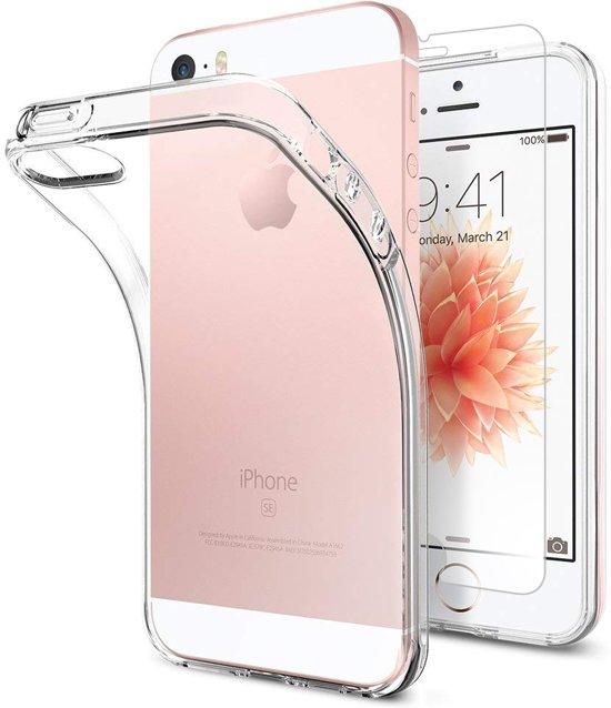MMOBIEL 2 in 1 beschermset voor iPhone 5, 5S en 5C Screen protector en Siliconenhoesje. in Vlezenbeek