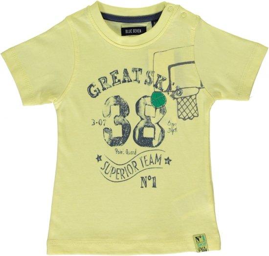 Blue Seven Jongens T-shirt - geel - Maat 68