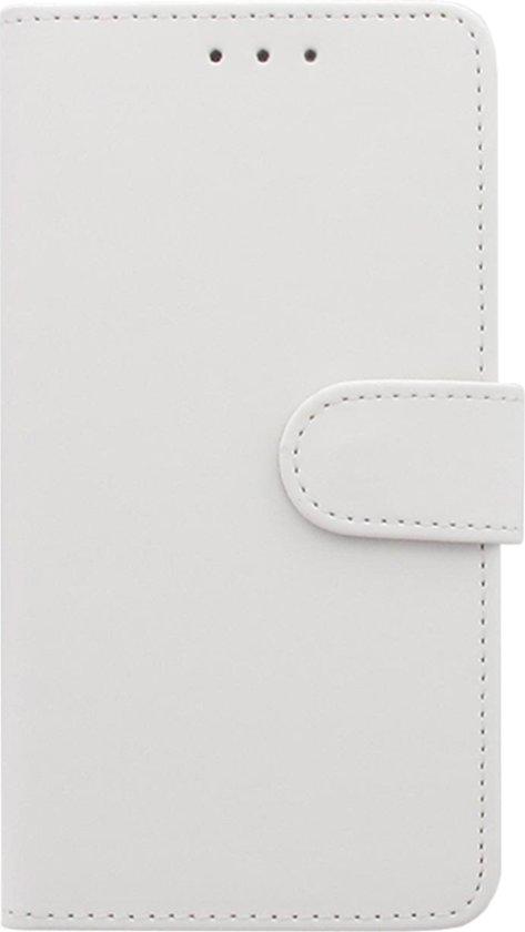 Huawei P9 Plus Boekhoesje Wit met Opbergvakjes in Wijshagen