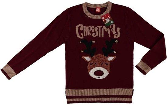 Kersttrui Mopshond.Bol Com Bordeaux Rode Kersttrui Rendier Voor Dames Foute