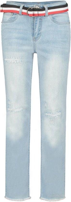 Garcia Meisjes Jeans wide leg - light used - Maat 140