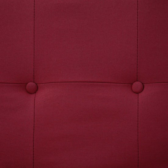 vidaXL Slaapbank met armleuning polyester wijnrood