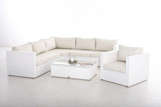 Bol designs loungeset summer personen wit vlechtwerk