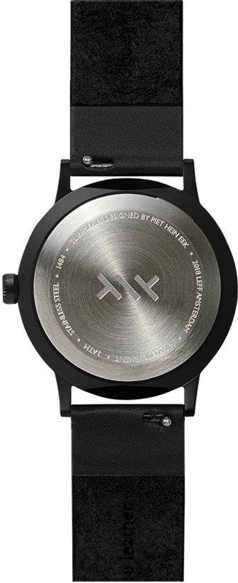 Tube watch T32 black / black leather strap