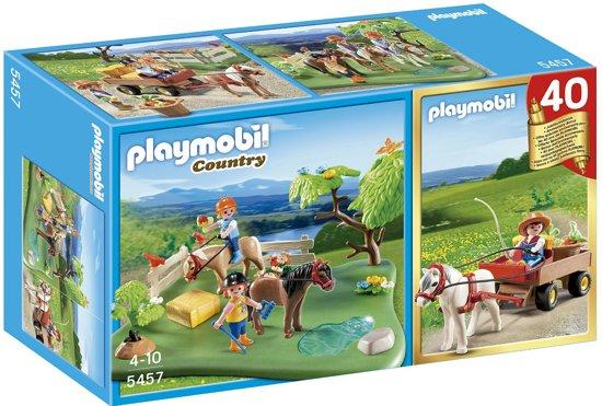 Playmobil Jubileum Compact Set Ponyweide met hooiwagen - 5457