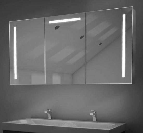 bol.com | 120 cm spiegelkast met spiegelverwarming en praktische LED ...