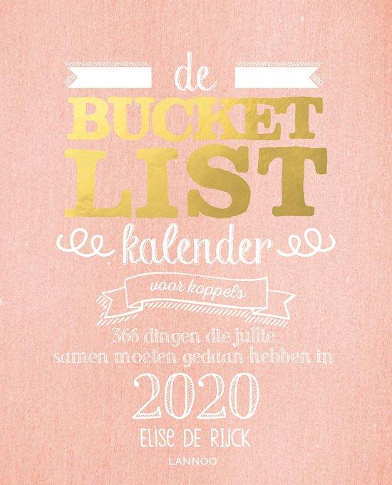 Boek cover Bucketlist - De bucketlistkalender voor koppels 2020 van Elise de Rijck (Paperback)