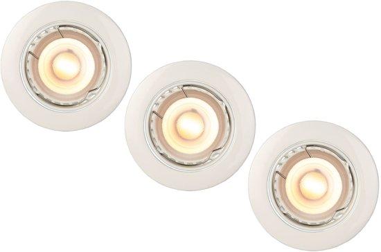 Lucide FOCUS - Inbouwspot - Ø 8,1 cm - LED Dimb. - GU10 - 3x5W 3000K - Wit - Set van 3