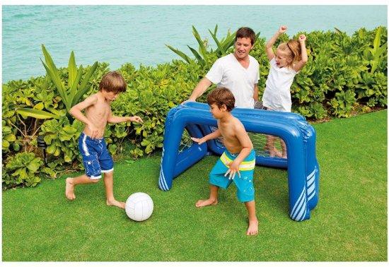 Intex opblaasbaar voetbal / waterpolo Goal. Afm.  140 x 89 x 81 Cm.