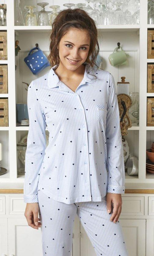 c0aed038182 bol.com | Blauwe Ringella pyjama met knopen