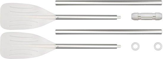 Set Peddels Kunststof Zilver/wit 120 Cm 2-delig te maken tot 1