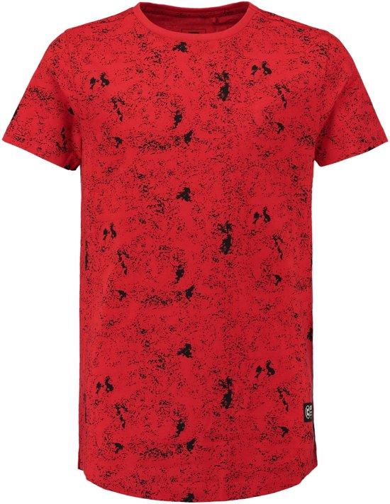 ca1b5b273403e9 Coolcat Shirt Long length T-shirt met all over print - Helder Rood - 122