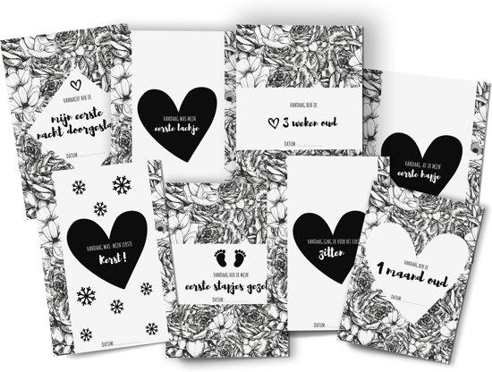 Mijlpaalkaarten - Mijlpaalkaarten Baby - Kraamkado - Milestone Cards - Milestone Kaarten - Milestone Baby Cards