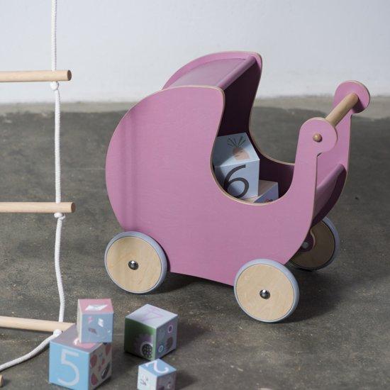 Sebra Houten Poppenwagen
