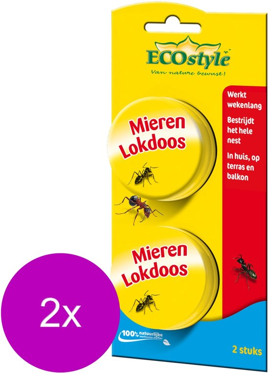 ECOstyle Loxiran Mierenlokdoos - Ongediertebestrijding - 2 x 2 stuks