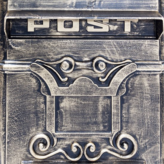 relaxdays Engelse staande brievenbus, Kolombrievenbus antiek design staand Alu goud