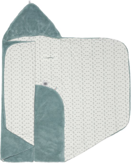 Snoozebaby Wikkeldeken Trendy Wrapping (80x80cm) Petrol