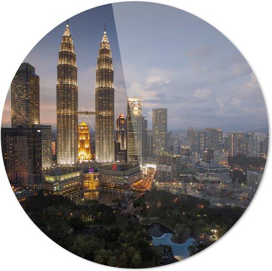 Kuala Lumpur | Maleisië | Steden | Rond Plexiglas | Wanddecoratie | 90CM x 90CM | Schilderij | Foto op plexiglas
