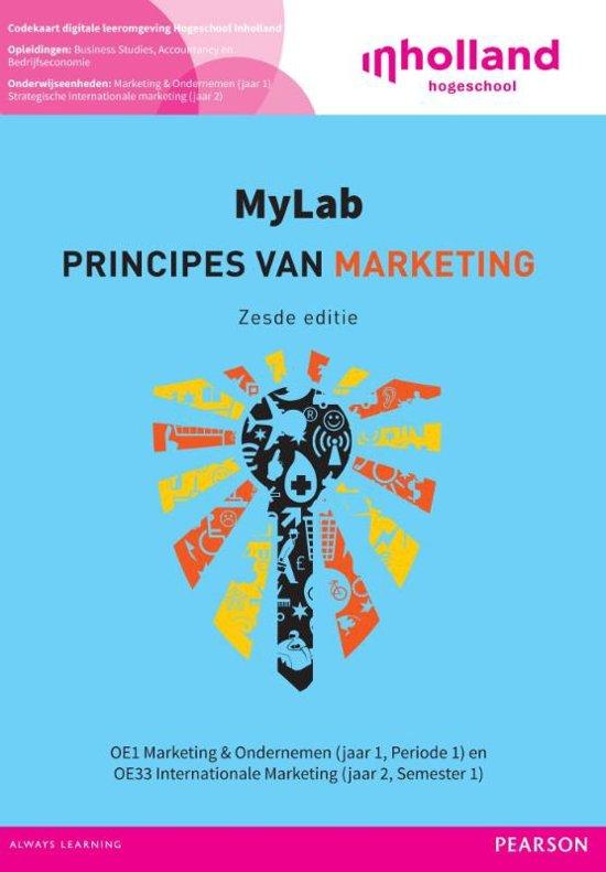 Custom InHolland 2015 principes van marketing codekarton