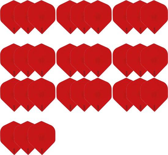 Dragon darts - 10 Sets (30 stuks) zeer stevige R4x - dart flights - Rood - darts flights