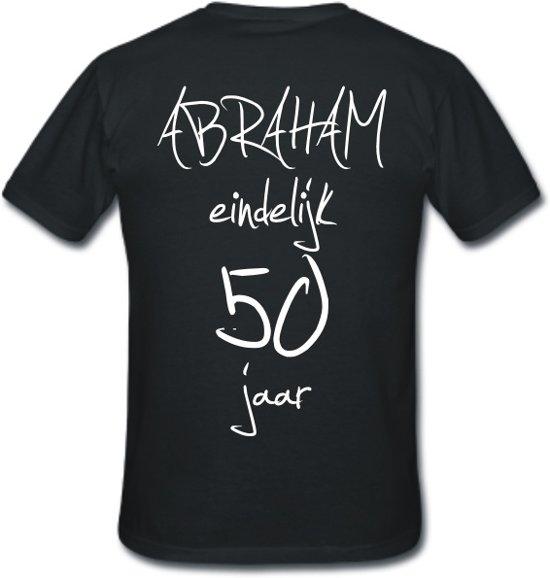 Bol Com Mijncadeautje T Shirt Abraham Eindelijk 50 Jaar