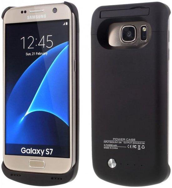 online retailer 8db63 d61ce qMust - Samsung Galaxy S7 hoesje - Extended Battery Case - 4200mAh - zwart