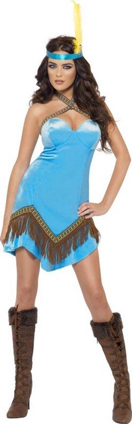 Indianen jurk blauw