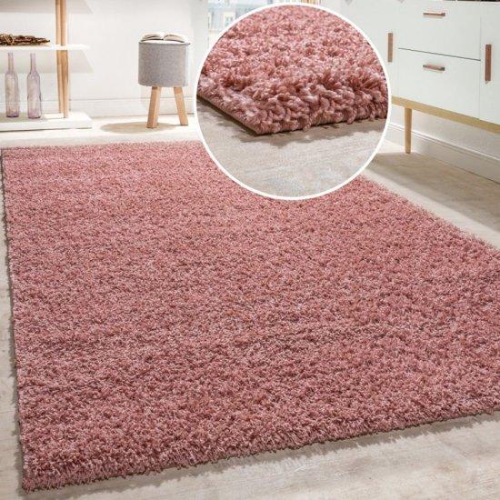 Trendy Design Vloerkleed Shaggy Tapijt Roze 120 x 170 cm