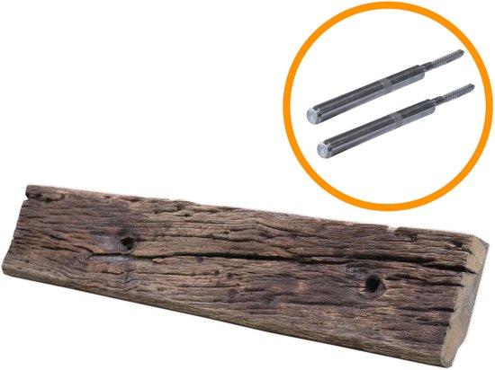 Plank Onzichtbaar Aan De Muur Bevestigen.Steigerhoutpassie Blinde Plankdrager Set Blinde Bevestiging Geborsteld
