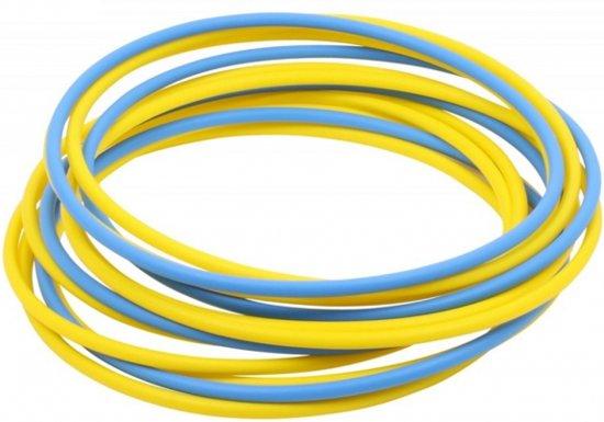 Vinex - Coördinatieringen Arrow - set van 12 ringen incl. clips - Ø 60 cm - 4 x Blauw + 8 x Geel