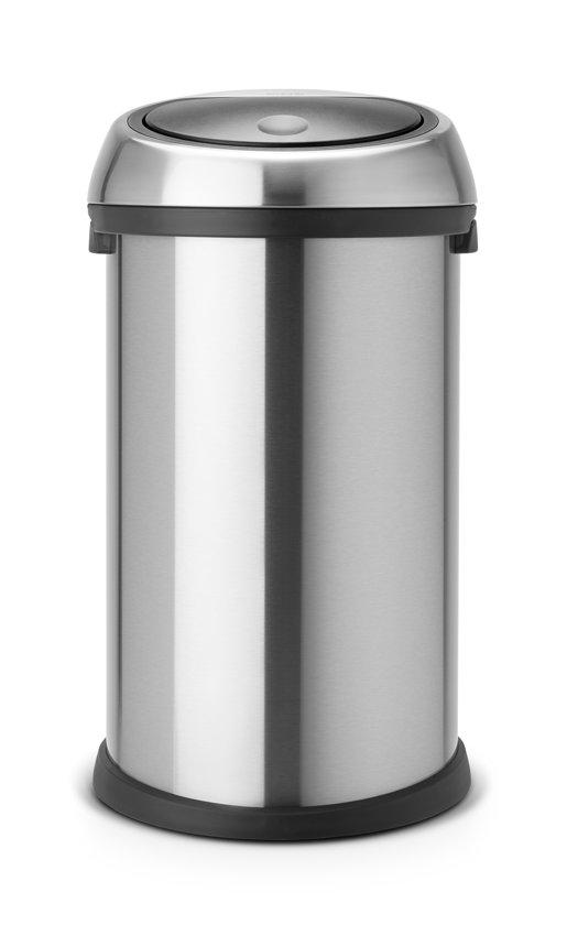 Brabantia Touch Bin 50 Liter Zwart.Brabantia Touch Bin Prullenbak 50 L Matt Steel