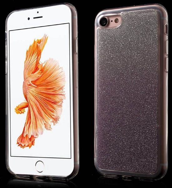 GSMWise - Apple iPhone 7 / 8 - TPU Back Case Glitter Design - Paars in Roelshoek