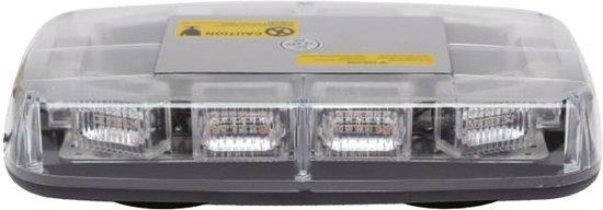 Compacte zwaailamp - 57mm hoog - R10 / R65 certificering - 30 LED ORANJE