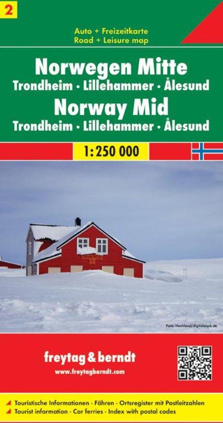 FB Noorwegen blad 2, Midden • Trondheim • Lillehammer • Alesund