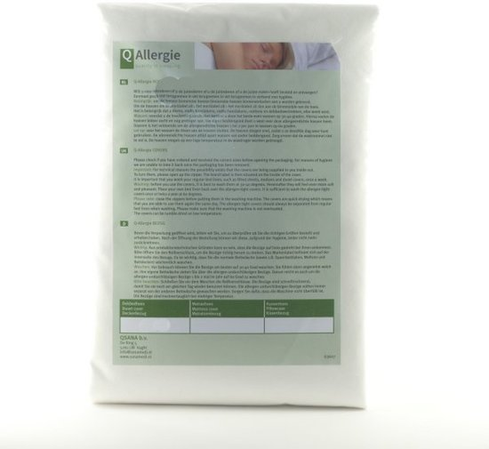Huisstofmijt + allergeenstofdichte kussenhoes anti-allergie 60x70cm