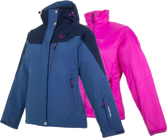 Abisko Maat Damessportjas Vrouwen 3 38 1 Tenson roze Blauw Jas in axdaA4R
