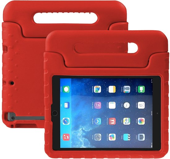 iPad 2/3/4 Kinderhoesje Kids Case Kids Proof Back Shock Cover - Rood
