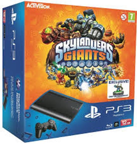 Sony PlayStation 3 Console 12GB Super Slim + 1 Wireless Dualshock 3 Controller + Skylanders Giants Starterpack - Zwart PS3 B... kopen