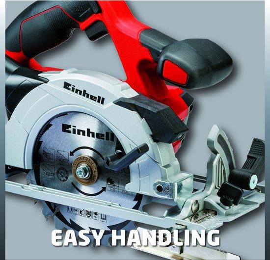 EINHELL Accu Handcirkelzaag TE-CS 18 Li Solo - Power-X-Change - 18 V - Ø150x10x1,6 mm / T 24 - Zonder accu & lader