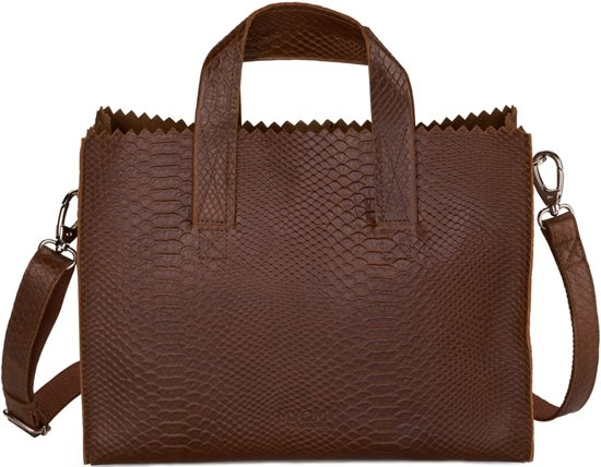 MYOMY My Paper Bag Dames Schoudertas - Anaconda Brandy